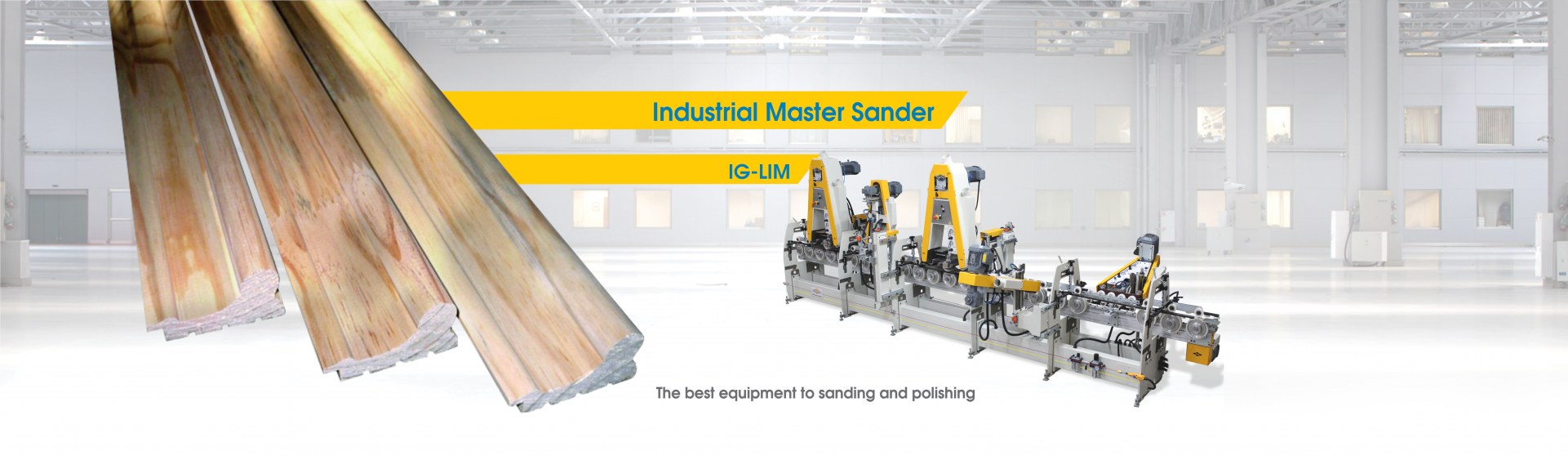 Sanding, milling and polishing Line